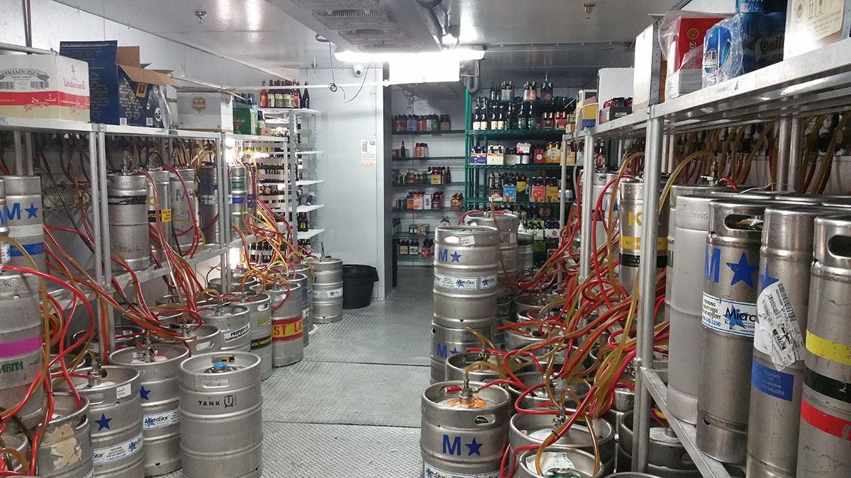 Walk-In beer cooler
