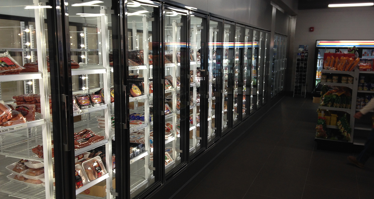 meat display walk-in coolers and freezers