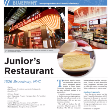 Junior's Restaurant chose Arctic Walk-ins – Total Food Service