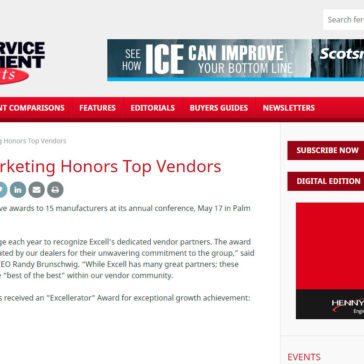 Excell Marketing Honors Top Vendors – Foodservice Equipment Reports