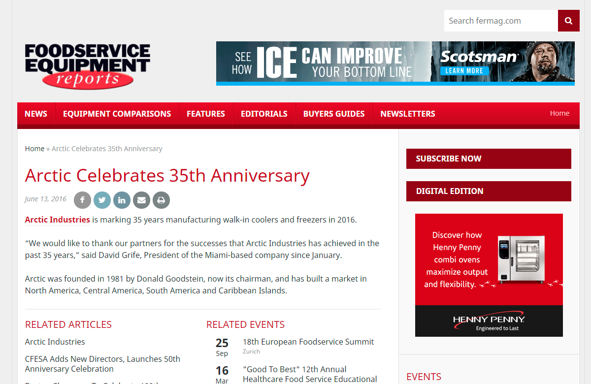 Sin-título-1 Arctic celebrates 35th Anniversary- Foodservice Equipment Reports
