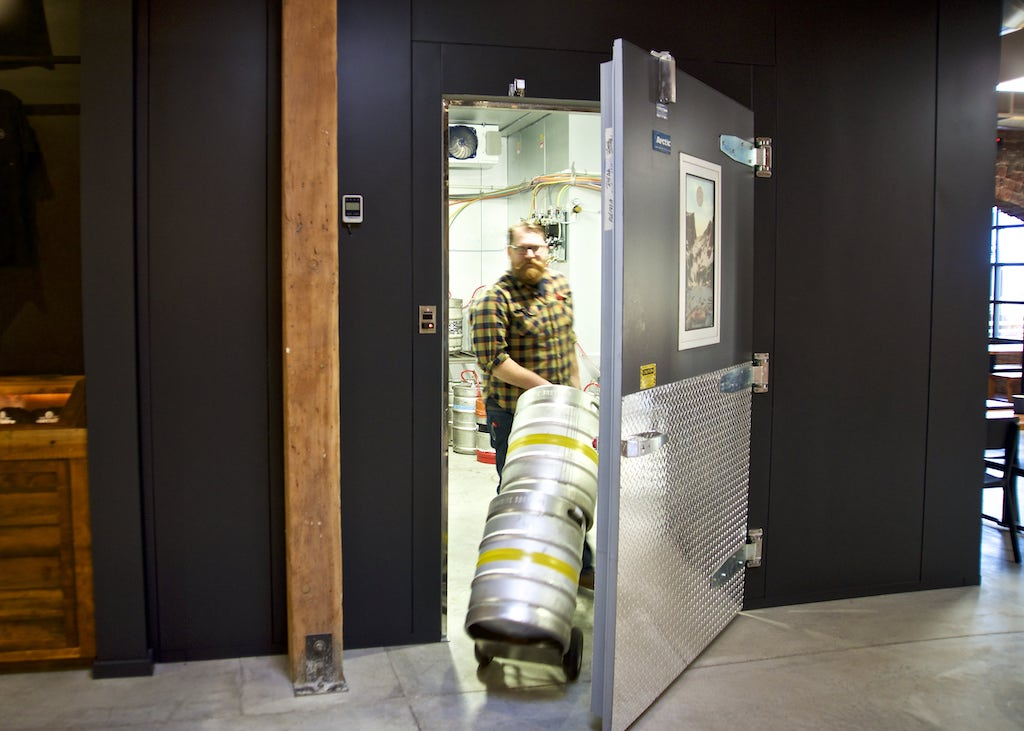 Arctic walk-in, brewery